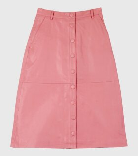 Bellis Leather Skirt Pink