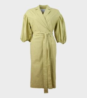 West Wrap Dress Moss Green