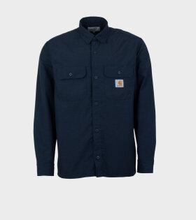 Carhartt WIP - L/S Field Shirt Blue