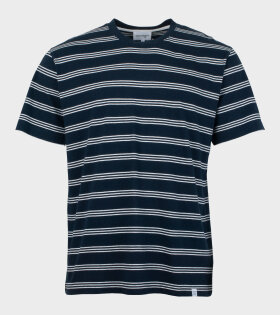 Norse Projects - Johannes Stripe T-shirt Blue