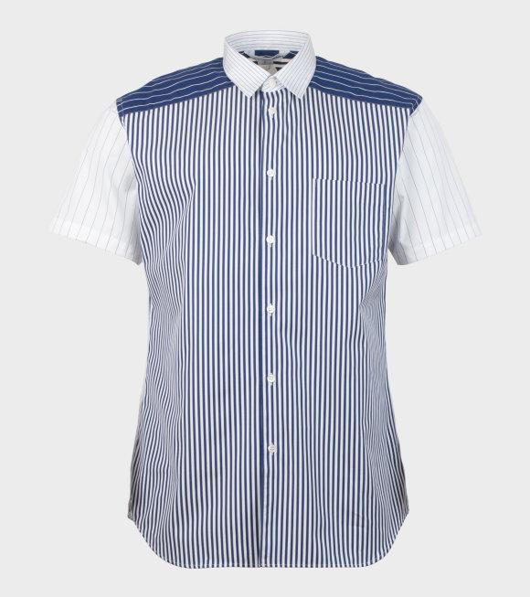 Comme des Garcons Shirt - S/S Shirt Stripe Blue/White