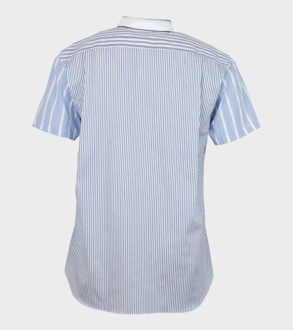 Comme des Garcons Shirt - S/S Shirt Stripe Blue