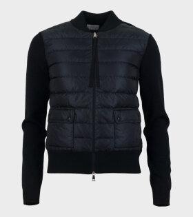 Moncler Cardigan Tricot Wool Black - dr. Adams
