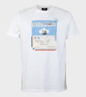Letter Blanc White T-Shirt - dr. Adams