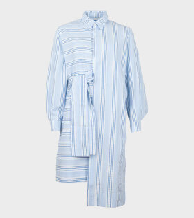 Henrik Vibskov Mermaide Shirtdress Blue Strip - dr. Adams