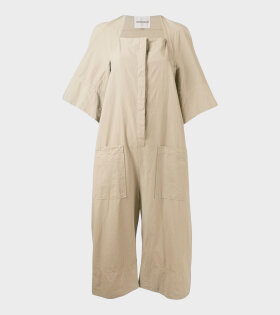 Tape Jumpsuit Pale Beige
