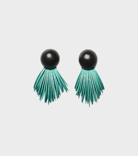 Black Earclips Turquoise