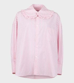 Girl Shirt Check Pink