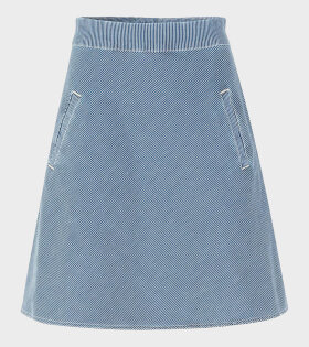 Stelly Stretchy Hickory Skirt Blue