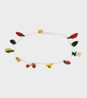 Beaded Multi Fruit Necklace