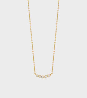 Lune Necklace 0.11ct 18K Gold