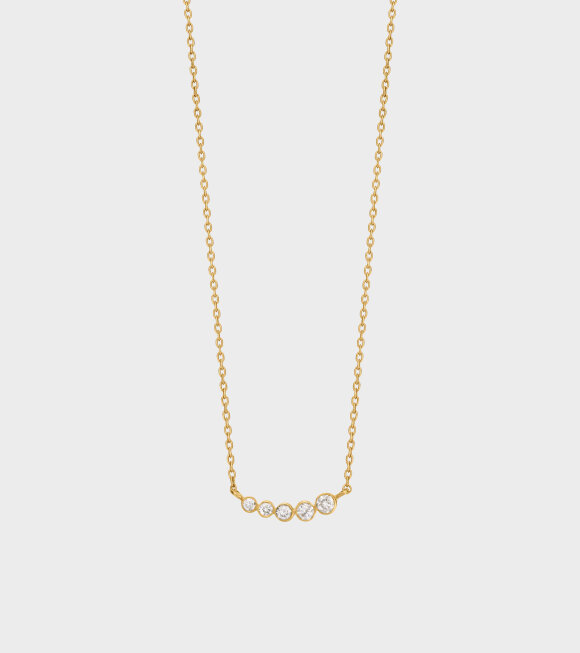 Sophie Bille Brahe - Lune Necklace 0.11ct 18K Gold