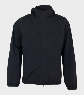 TRV Nylon Parka Jacket Black