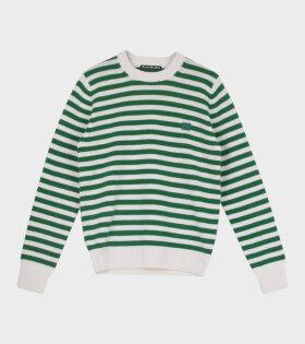 Kalon Stripe Face Sweater Green