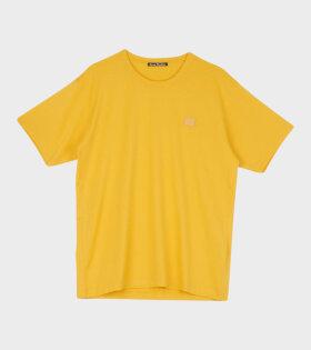 Acne Studios - Nash Face T-shirt Honey Yellow