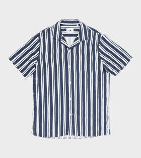 NN07 - Miyagi S/S Shirt Navy/White