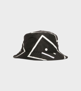Acne Studios - Face Bucket Hat Black/White