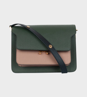 Marni - Medium Trunk Bag Green/Brown/Black