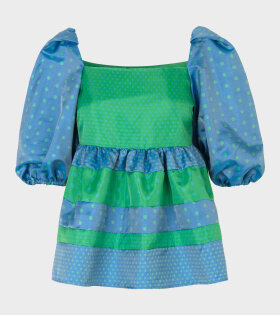 Kinsley Peplum Top Blue Green