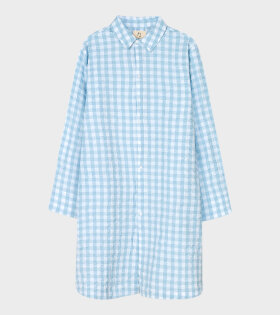 Jette Long Shirt Light Blue/White