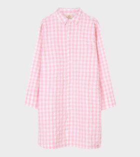 Jette Long Shirt Pink/White