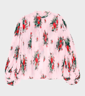 Pleated Georgette Blouse Cherry Blossom