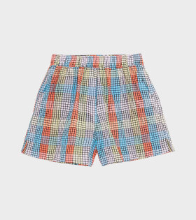 Seersucker Check Shorts Multicolour