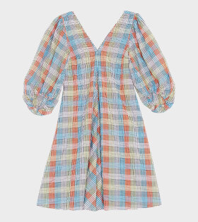 Seersucker Check Dress Multicolour
