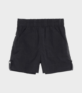 Crinkled Tech Shorts Black