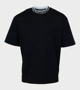 Acne Studios - Logo Jacquard T-shirt Black