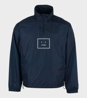 Acne Studios - Face Motif Half-zip Jacket Navy