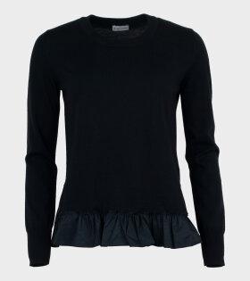 Moncler - Girocollo Tricot Knit Black