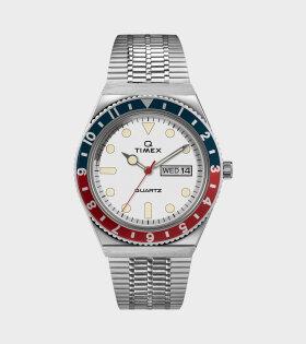 Timex - Q Timex Reissue Silver/White/Blue/Red