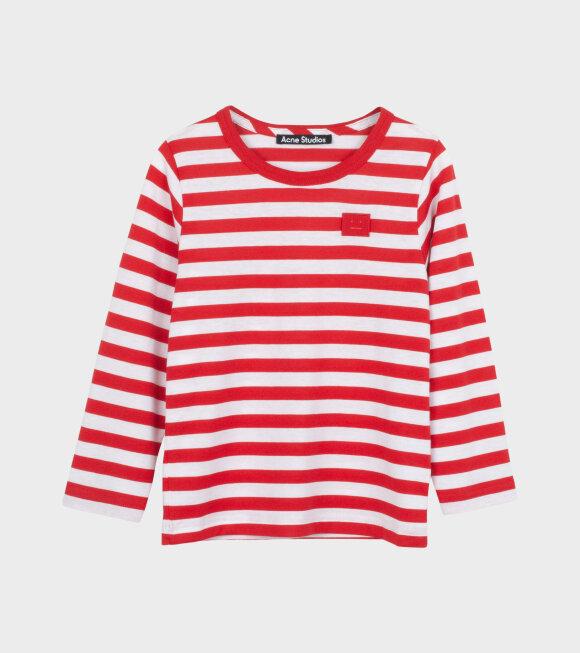 Acne Studios - Mini Nash Striped LS T-shirt Red