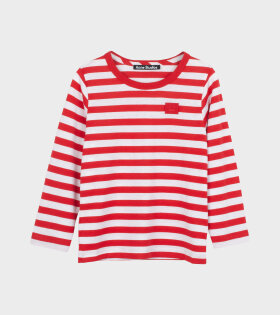 Mini Nash Striped LS T-shirt Red