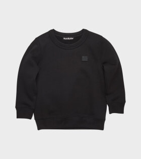 Mini Face Patch Sweatshirt Black