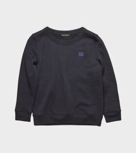 Mini Face Patch Sweatshirt Navy