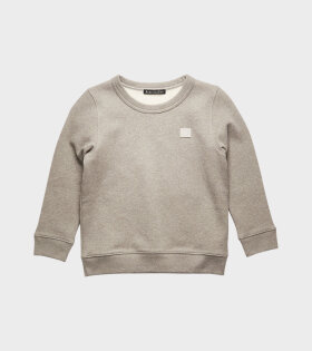 Mini Face Patch Sweatshirt Grey