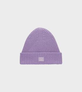Mini Pansy N Face Beanie Purple