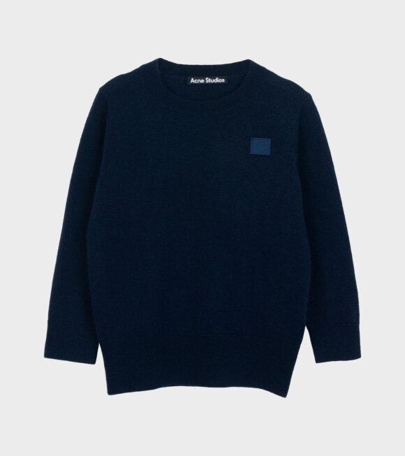 Acne Studios - Mini Face Patch Sweater Navy