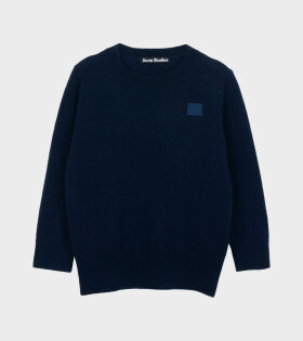 Mini Face Patch Sweater Navy