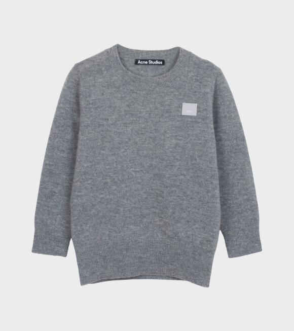 Acne Studios - Mini Face Patch Sweater Grey