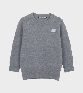 Mini Face Patch Sweater Grey