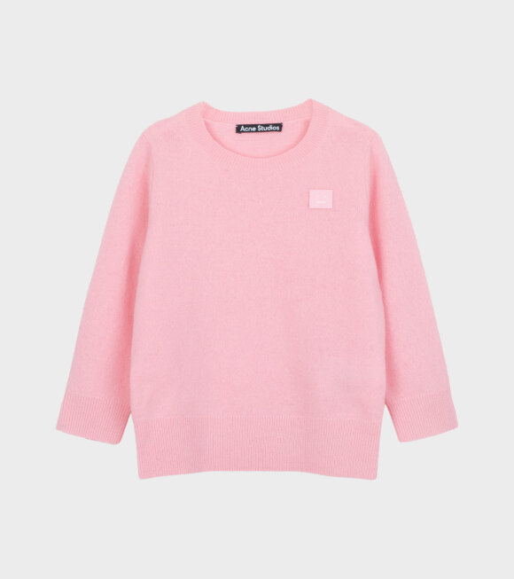 Acne Studios - Mini Face Patch Sweater Pink
