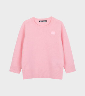Mini Face Patch Sweater Pink