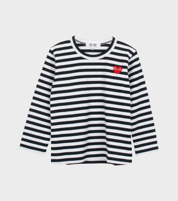 Comme des Garcons PLAY - K Striped LS T-shirt Black