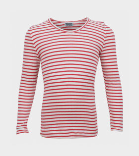 101 Rib Tee Kids Natur/Red