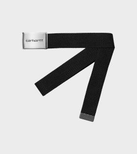 Carhartt WIP - Clip Belt Chrome Black