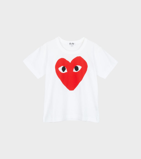 Comme des Garcons PLAY - K Red Big Heart T-shirt White