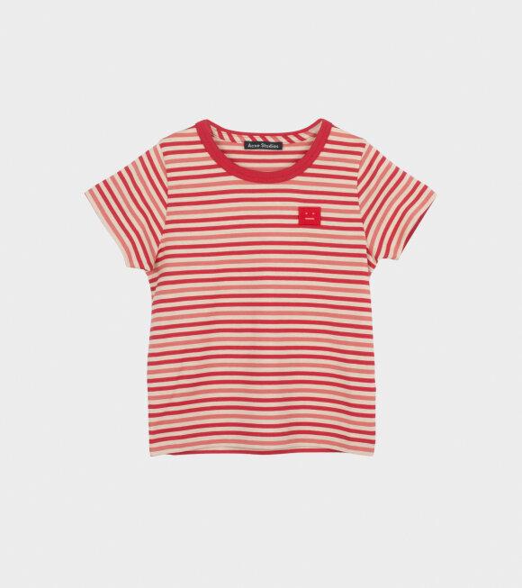 Acne Studios - Mini Nash Striped SS T-shirt Red